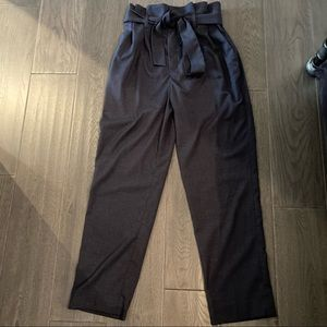 H&M high waisted pants with tie waist